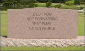 not forwarding tombstone
