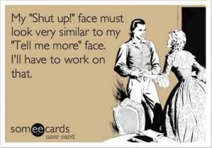 shut up face