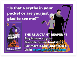 The Reluctant Reaper, pun-filled and award-winning. What's not to laugh?